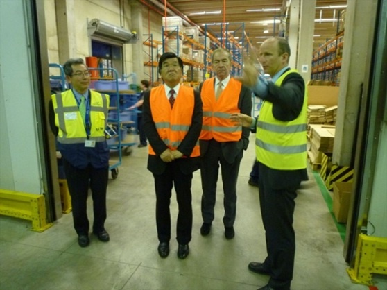 Yusen Logistics Benelux and the port of Antwerp visit